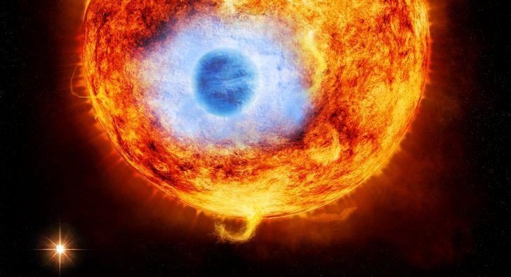 sol-y-planeta-azul-erupcion-solar